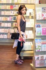 LUCY HALE Out Shopping at paper Source in Studio City