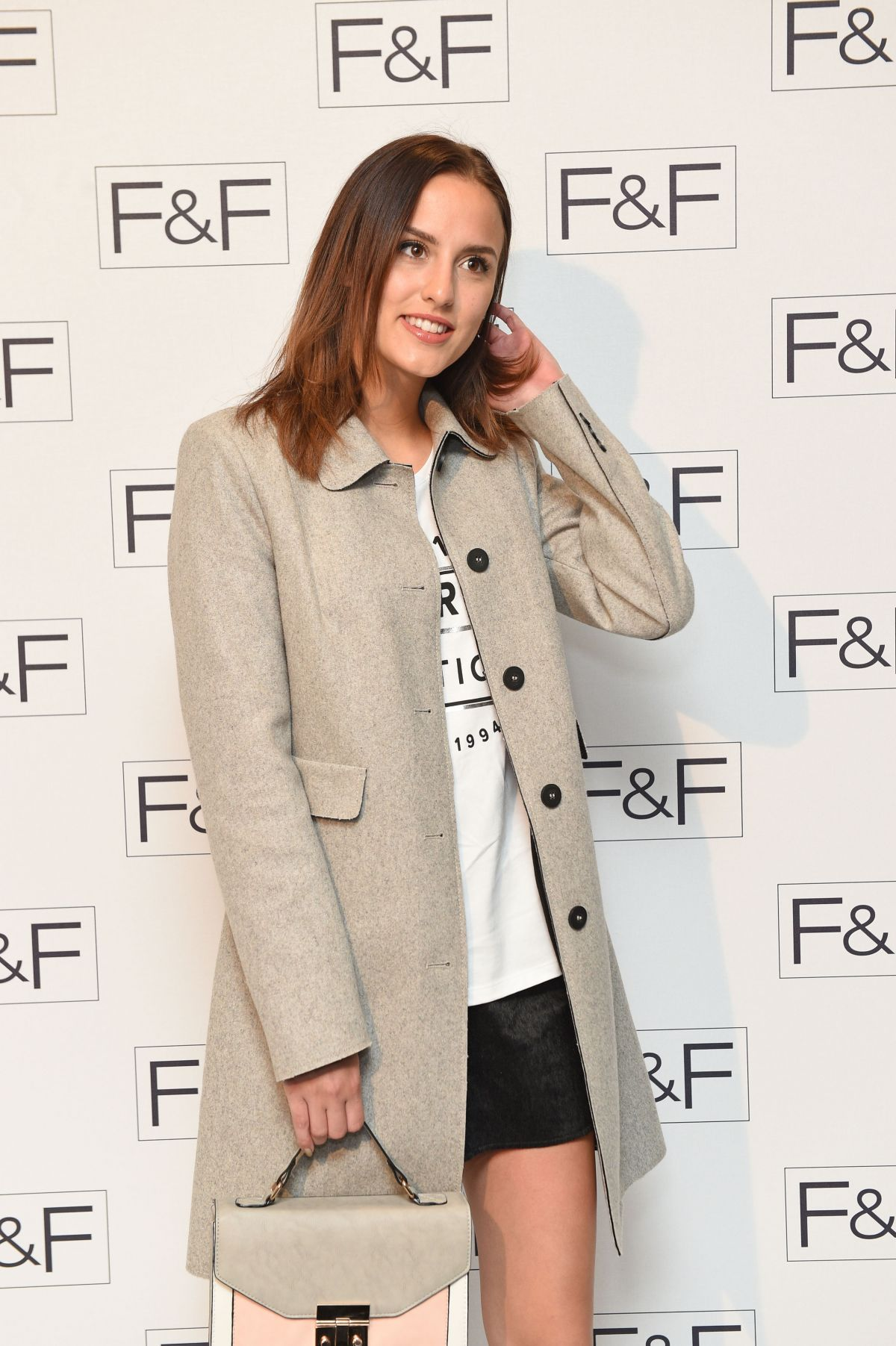 LUCY WATSON at F&F A/W15 Salon Show in London