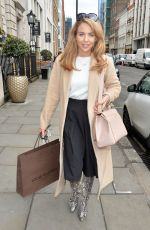 LYDIA BRIGHT Out Shopping in Mayfair