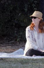 MARCIA CROSS at a Park in Beverly Hills 04/18/2015