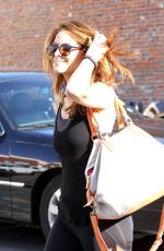 MARIA MENOUNOS in Leggings Leaves DWTS Rhearsals in Hollywood