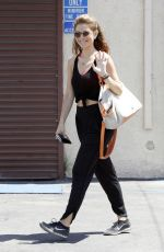 MARIA MENOUNOS in Tank Top Arrives at DWTS Rehearsals in Hollywood 04/19/2015
