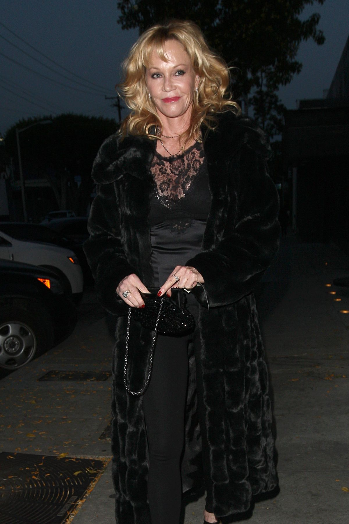 MELANIE GRIFDITH Night Out in West Hollywood 04/23/2015