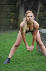 MELISSA REECES Workking Out in Short Shorts and Crop Top