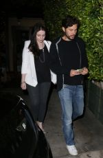 MICHELE TRACHTENBERG Leaves at Ago Restaurant in West Hollywood