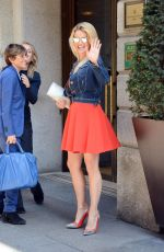 MICHELLE HUMZIKER Out and About in Milan 04/23/2015