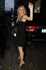 MICHELLE HUNZIKER Arrives at Sadler Restaurant in Milan
