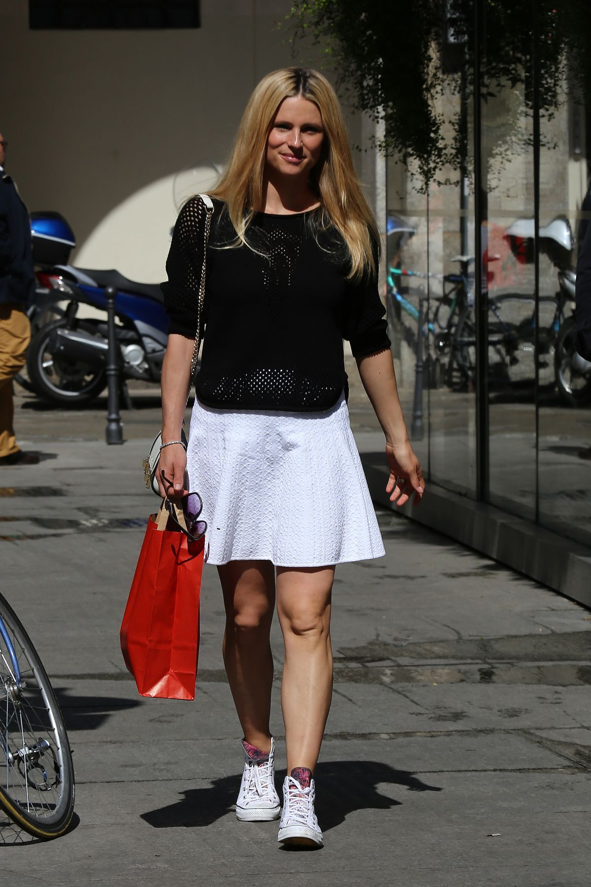 MICHELLE HUNZIKER Out Shopping in Milan 04/22/2015 - HawtCelebs ...
