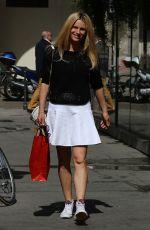 MICHELLE HUNZIKER Out Shopping in Milan 04/22/2015