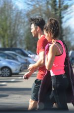 MICHELLE KEEGAN in Tights Leaves a Gym in Essex