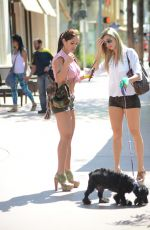MICHELLE LEWIN in Tight Shorts Out for Lunch