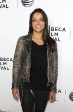 MICHELLE RODRIGUEZ at Live from New York! Premiere at 2015 Tribeca Film Festival in New York