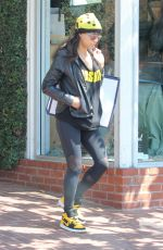 MICHELLE RODRIGUEZ Leaves Fred Segal in West Hollywood