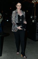 MICHELLE TRACHTENBERG Out for Dinner at Craig