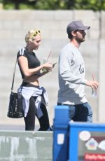MILEY CYRUS and Patrick Schwarzenegger Out and About in Sherman Oaks