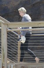MILEY CYRUS and Patrick Schwarzenegger Out for a Walk in Northern California