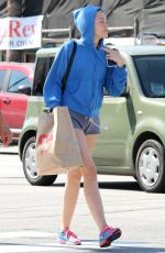 MILEY CYRUS in Shorts Out Shopping in Studio City