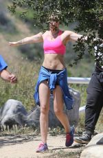 MILEY CYRUS in Tank Top Out for a Hike in Los Angeles