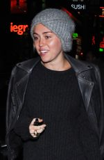 MILEY CYRUS Leaves Arclight Cineramadome in Hollywood 04/22/2015