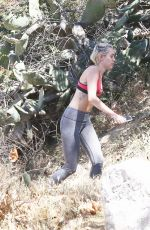 MILEY CYRUS Out for a Hike in Los Angeles 04/28/2015