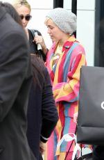 MILEY CYRUS Out Shopping in Beverly Hills 04/21/2015