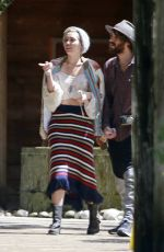 MILEY CYRUS Out Shopping in Big Sur