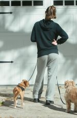 MINKA KELLY Walks Her Dogs Out in West Hollywood