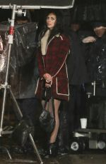 MORENA BACCARIN on the Set of Deadpool in Vancouver