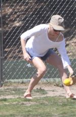 NAOMI WATTS Playing at a Park in Los Angeles