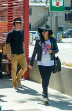 NAYA RIVERA Out for Lunch in Silver Lake