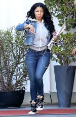 NICKI MINAJ Out and About in Los Angeles 04/28/2015