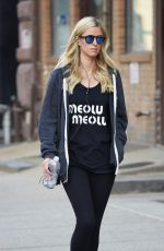 NICKY HILTON Heading to a Gym in East Village