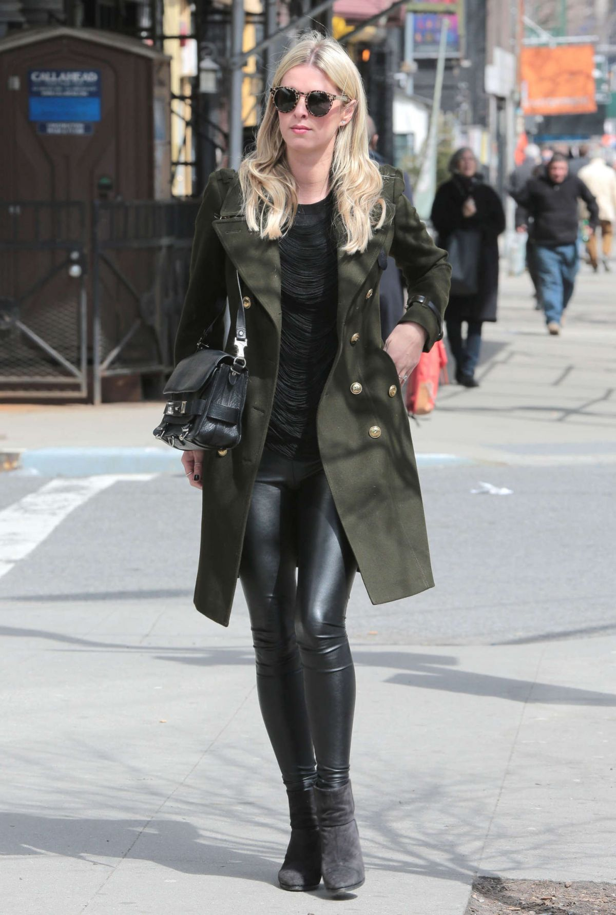 nicky hilton in leather pants out in beverly hills