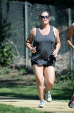 NICOLE EGGERT Working out in Studio City