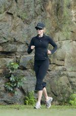 NICOLE KIDMAN Out Jogging in Sydney 04/25/2015