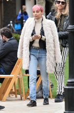 NICOLE RICHIE on the Set of Americana at Brand in Glendale