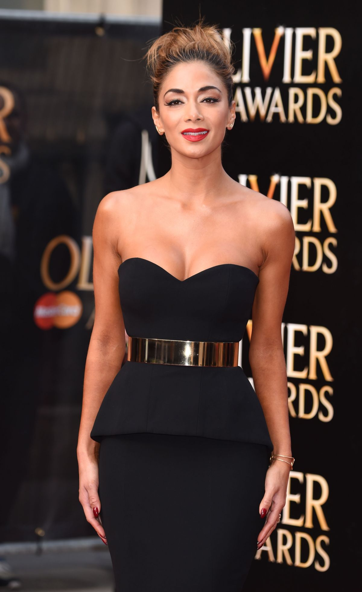 NICOLE SCHERZINGER at 2015 Olivier Awards in London