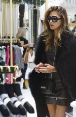 NICOLE SCHERZINGER Out Shopping in London