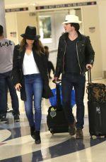 NIKKI REED and Ian Somerhalder Arrives at Los Angeles nternational Airport