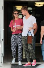 NINA AGDAL Leaves a Dentist Office in Miami