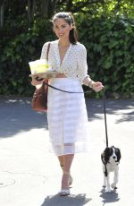 OLIVIA MUNN with Her Dog Out and About in Los Angeles 04/20/2015