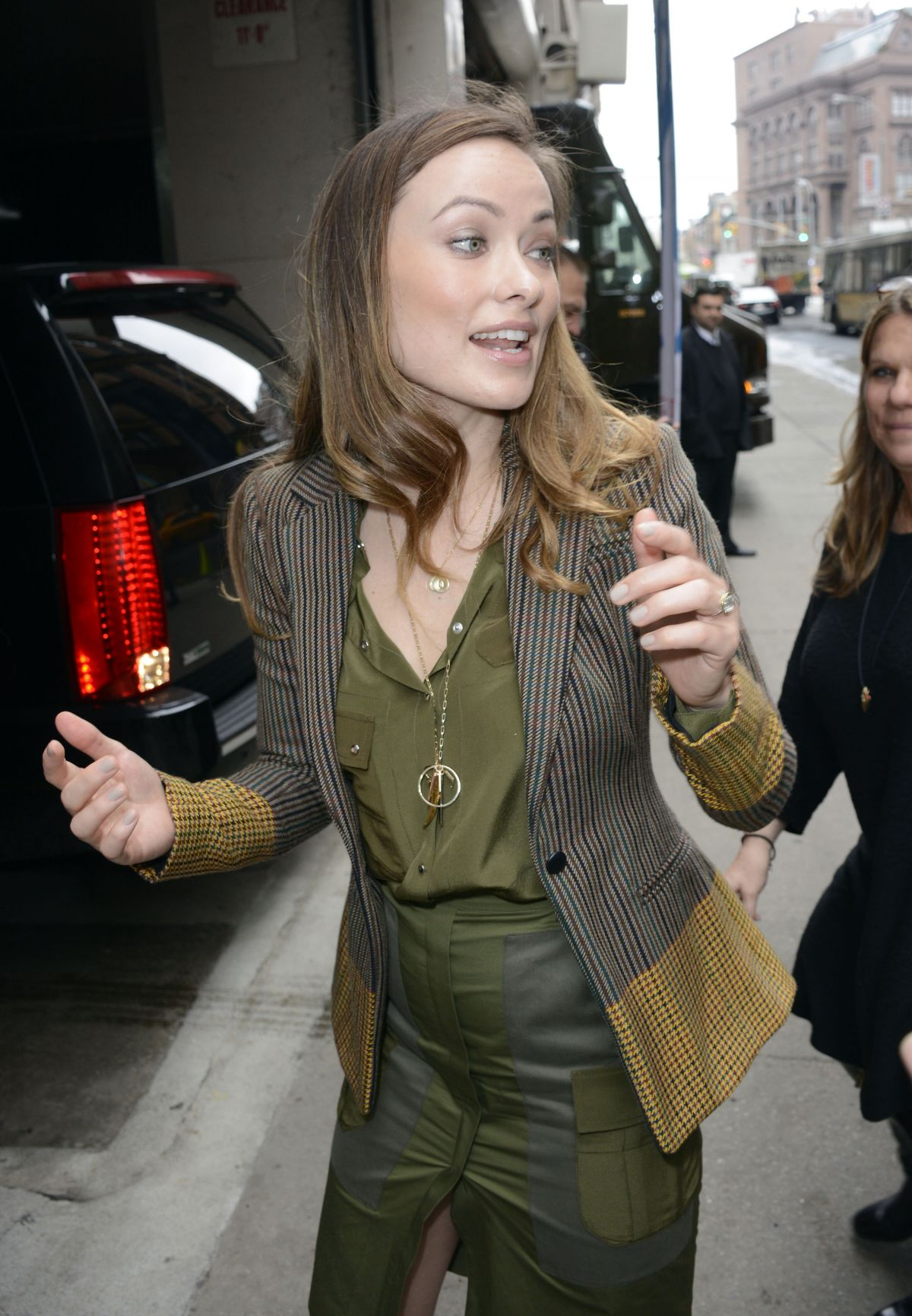 OLIVIA WILDE Arrives at Huffpost Live in New York