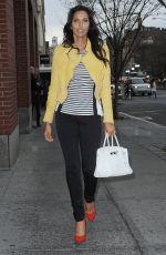 PADMA LAKSHMI Arrives at Her Apartment in New York 04/23/2015