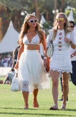 PARIS and NICKY HILTON at 2015 Coachella Music Festival, Day 1