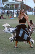 PARIS HILTON at Coachella Music Festival at Empire Polo Grounds in Indio