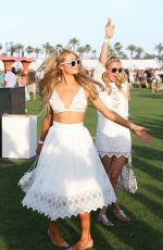 PARIS HILTON at Coachella Music Festival, Day 1