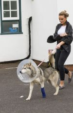 PERRIE EDWARDS at a Vet Office in London