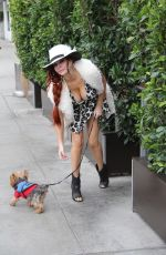 PHOEBE PRICE Walks Her Dog Out in Los Angeles