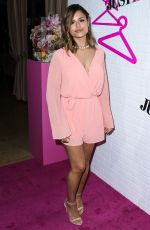 PIA TOSCANO at Justfab Ready-to-wear Launch Party in West Hollywood