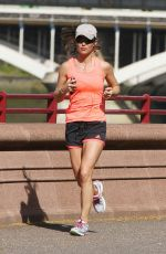 PIPPA MIDDLETON in Shorts Out Jogging in London 04/15/2015